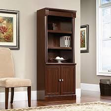 Storage Bookcase With Doors Sauder Palladia Select Cherry Storage Open Bookcase 412019 The