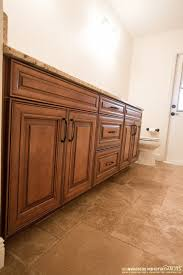 Craftsman Bathroom Vanities Maple Auburn Glaze Kitchen Traditional With Cherry Cabinets