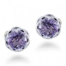 amethyst stud earrings tacori se10501 lilac blossoms amethyst studs