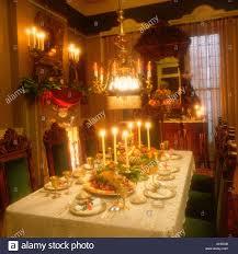 christmas dinner table setting victorian christmas dinner table setting stock photo 105899 alamy
