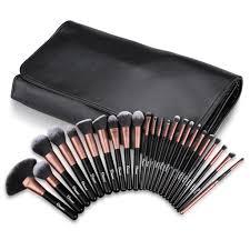 ovonni 24pcs superior soft cosmetic makeup brush tools kit set