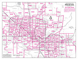City Of Phoenix Map by Phoenix Map With Zip Codes Zip Code Map