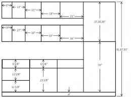 kitchen cabinet sizes chart kitchen decoration