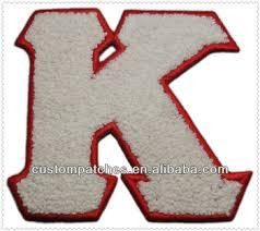 chenille letter k for varsity jacket buy chenille varsity
