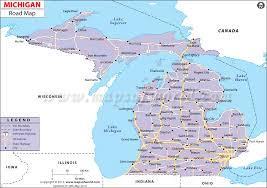 map of michigan michigan road map road map of michigan or highway map