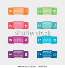 vector paper triangle stickers labels realistic stock vector