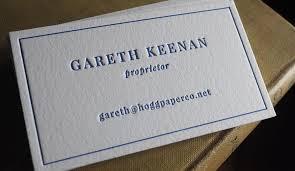 minimal letterpress printing hoban cards