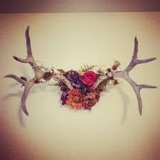 antler wall floral antler deer antlers antler decor