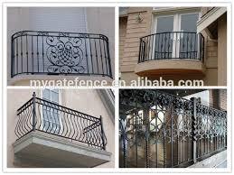 yishujia factory steel iron balcony railing grill design for