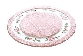 Floral Bathroom Rugs Floral Bath Mat Sets Bathroom Rug Round Soft Cute Rose Microfiber