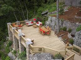 images about backyard decks planters and deck ideas for uneven