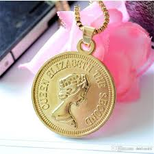 coin pendant necklace jewelry images Wholesale gold queen elizaaeth hiphop necklace alloy women head jpg