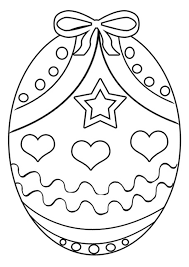 free easter egg 4 colouring kids activity sheets