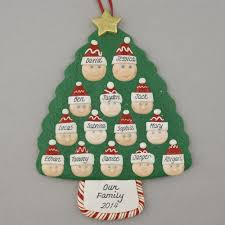 a family tree of 14 personalized christmas ornament calliope designs