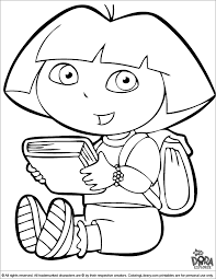dora the explorer coloring pages coloring library