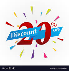 discount ribbon sale discount design with ribbon royalty free vector image