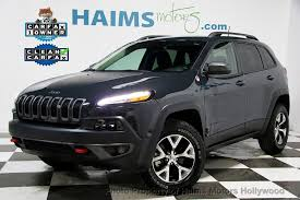 jeep cherokee grey 2017 2017 used jeep cherokee trailhawk 4x4 at haims motors serving fort
