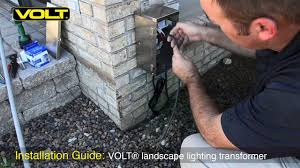 How To Install Landscape Lighting Transformer Volt Low Voltage Landscape Lighting Transformer