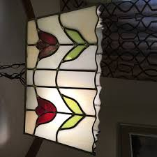 how to tea stain glass l shades antique and vintage hanging ls collectors weekly