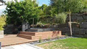 jacuzzi bois exterieur pour terrasse terrasse bois et jacuzzi jardin design