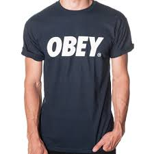 obey clothing obey clothing obey t shirt obey font logo navy white obey