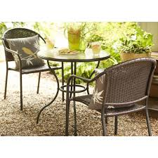 Patio Table And Chairs For Small Spaces This 3 Outdoor Bistro Set Is Comfortable With It S Woven