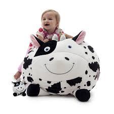 Big Joe Kids Bean Bag Chair Chloe The Cow With Lil Buddy Bagimals Bean Bag Hayneedle