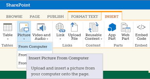 inserting images sharepoint styling babson college