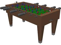 Wilson Foosball Table Foosball Table 3d Model 3d Cad Browser