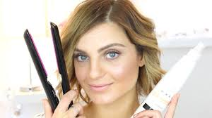 how to curl short hair with a straightener short hair tutorial