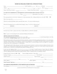 parent release form simple photo release form template release