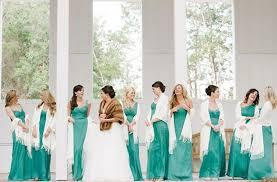 photo via teal bridesmaid dresses teal bridesmaids and shawl