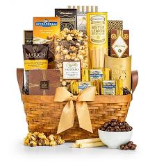 food gift basket as as gold gourmet gift basket