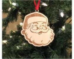 wooden santa claus etsy