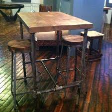 bar height table industrial industrial style bar table elegant industrial style bar table