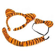 tiger headband costume tiger ears headband bow tie set yellow