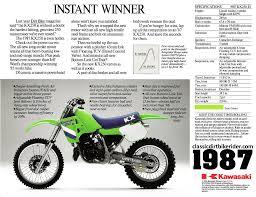kawasaki kx250 1980 89 spotters guide classicdirtbikerider com