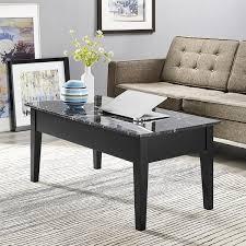 Lift Top Coffee Tables Dorel Living Black Faux Marble Lift Top Coffee Table Free