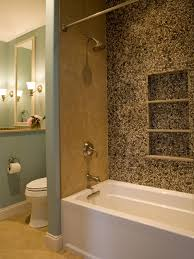 Tile In Bathtub Photos Hgtv Transitional Bathroom With Pebble Tile Wall Loversiq