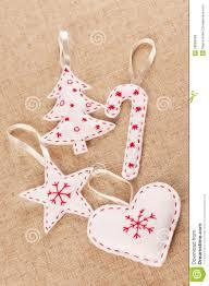 white felt christmas decorations royalty free stock photos image