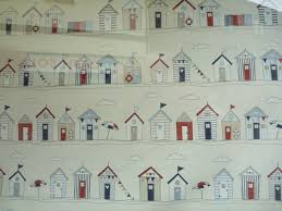 Nautical Curtain Fabric Huts And Blue Curtain Fabric Curtain Fabric And