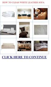 Cleaning White Leather Sofa by Q U003dhow To Clean White Leather Sofa