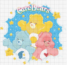 charms in cross point care bears crochet for baby and kids
