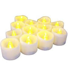 6 hour tea lights led flameless candles battery operated set 12 warm white real bright