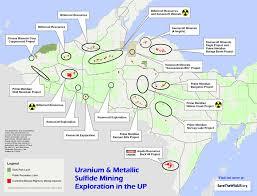 up michigan map maps mining