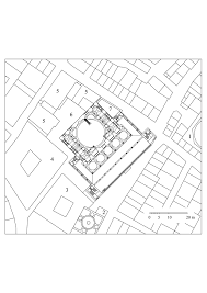 floor plan of tahtakale rüstem pasa mosque archnet