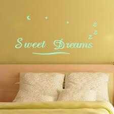 Bedroom Wall Art Words Aliexpress Com Buy Creative Glowing Wall Sticker Sweet Dreams