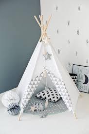 tipi enfant chambre tipi d indien tipi wigwam blanc zigzag gris 63 chambre d enfant