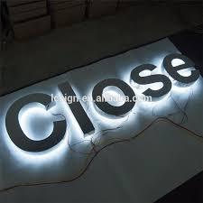 custom metal signs led backlit signs embossed metal letters and