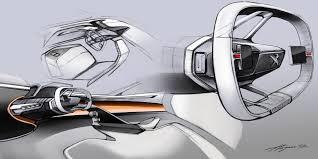 peugeot pars interior interior design of the concept car peugeot fractal automotive